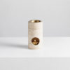 synergy oil burner by addition studio - travertine oil burner australia - deisgner oil burner with natural lavender essential oils and beeswax candle