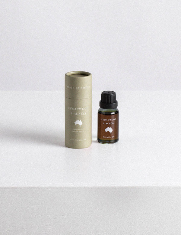 addition studio cedarwood essential oil and acacia essential oils australia
