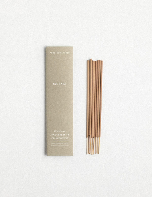 juniperberry and frankincense incense by addition studio - richly scented incense and designer homewares