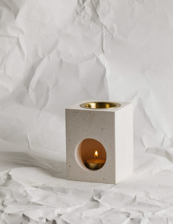 addition studio essential oil burner - limestone diffuser - marble diffuser - marble oil burner - addition studio oil burners australia