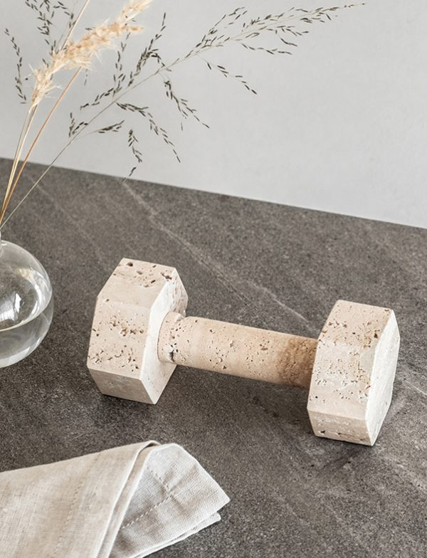 Marble Dumbbell - Travertine