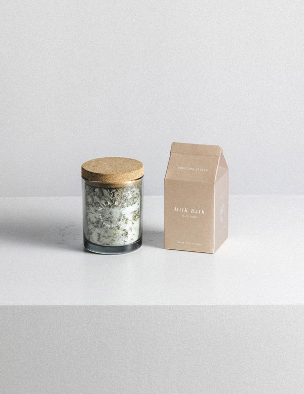 addition studio milk bath soak - designer bathroom accessories - essential oil bath soak - epsom salt bath