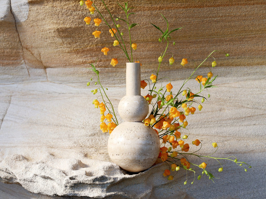 molecular vase addition studio - travertine vase australia - home decor - designer homewares