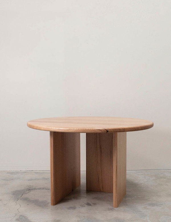 Sundial Table - round timber dining table australia - tasmanian oak dining table - american oak dining table