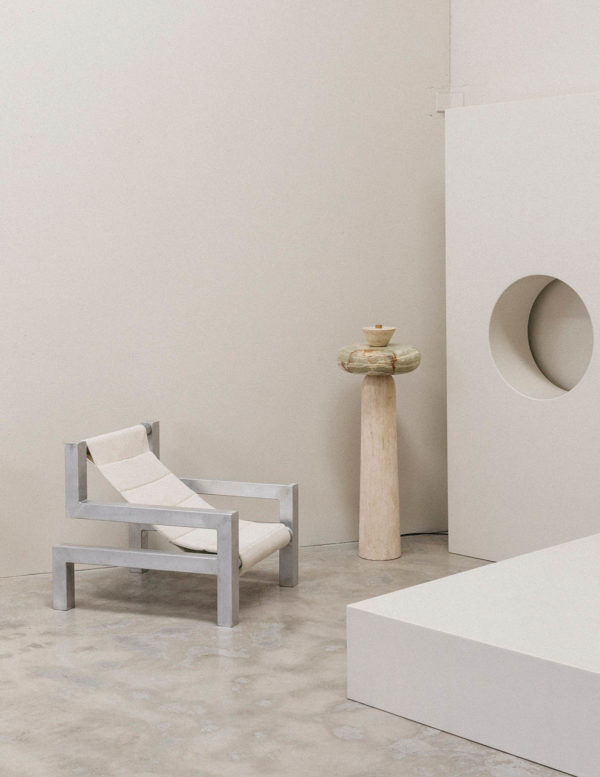 Tetris Chair in white - tetris chair by addition studio - indoor lounging chair - outdoor sun chair - designer sun lounger - famous designer chairs